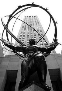 Rebelión de Atlas (titán griego en Rockefeller Manhattan)